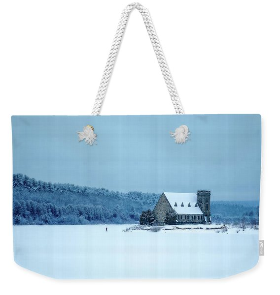 Photographer On Thin Ice Weekender Tote Bag