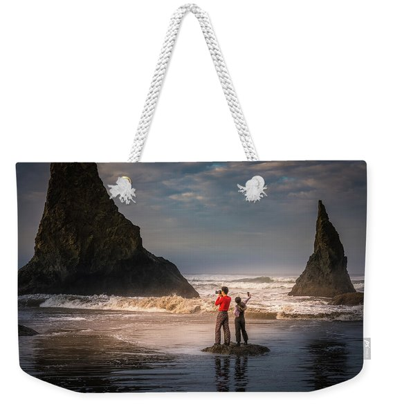 Photographer Vs Selfiegrapher Weekender Tote Bag