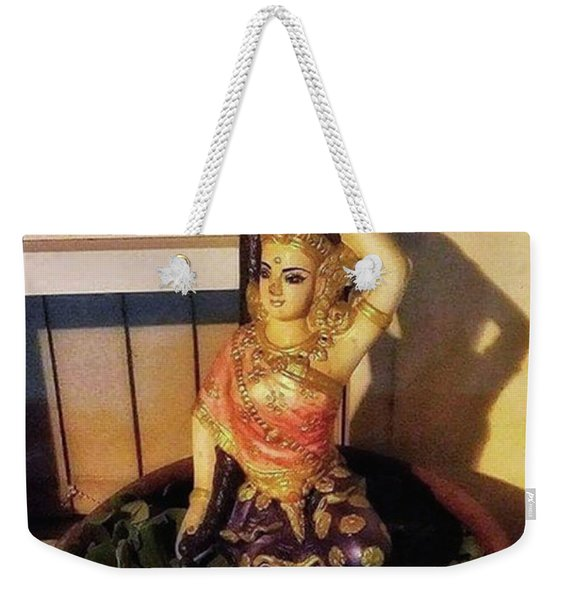 Weekender Tote Bag featuring the photograph Phra Mae Thorani. Holy Mother Of Earth by Mr Photojimsf