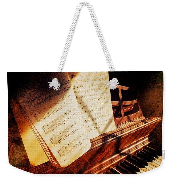 Piano Sheet Music Weekender Tote Bag