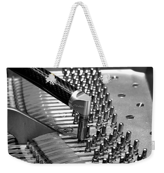 Piano Tuning Bw Weekender Tote Bag