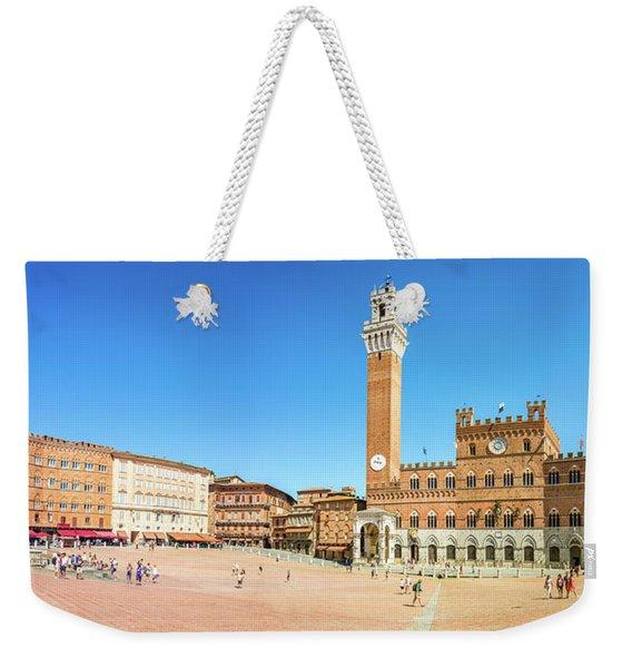 Piazza Del Campo In Siena Weekender Tote Bag