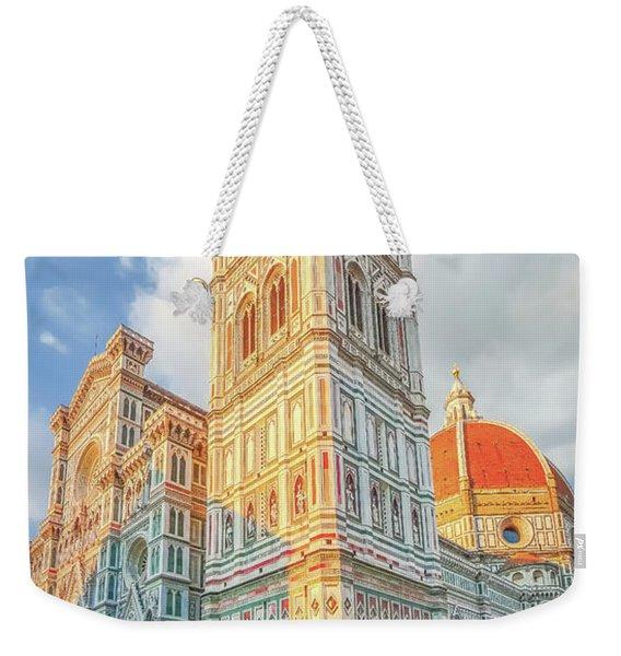 Piazza Del Duomo In Florence Weekender Tote Bag