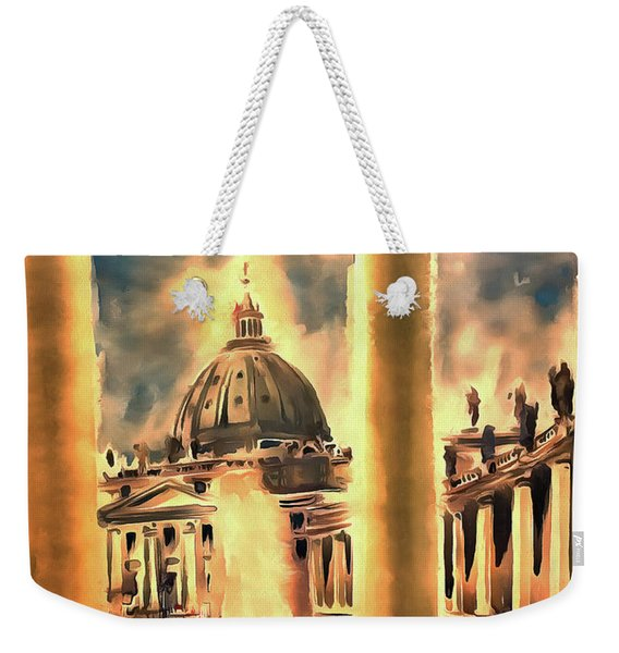 Piazza San Pietro In Roma Italy Weekender Tote Bag