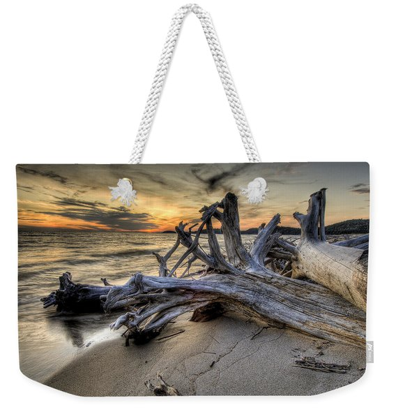 Weekender Tote Bag featuring the photograph Pic Driftwood by Doug Gibbons