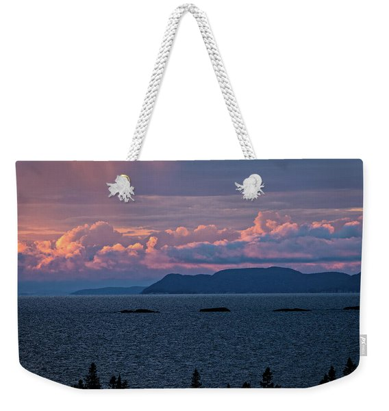 Weekender Tote Bag featuring the photograph Pic Island by Doug Gibbons