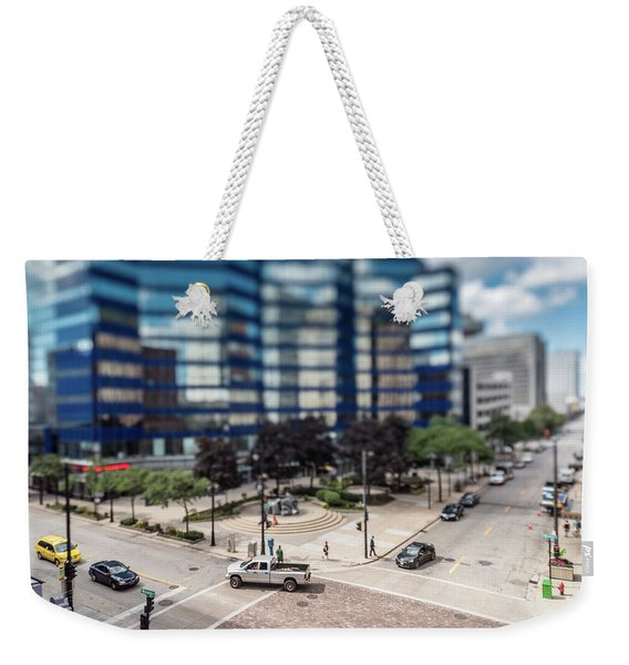Pick-up Truck In The Itty-bitty-city Weekender Tote Bag