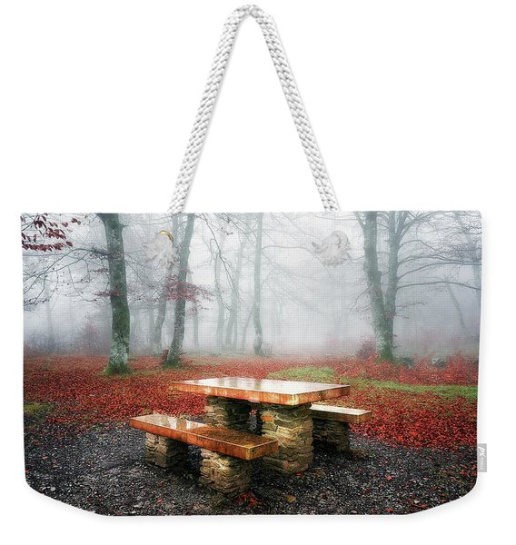 Picnic Of Fog Weekender Tote Bag