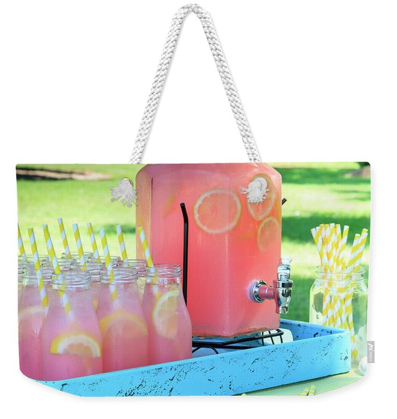 Picnic Pink Lemonade Weekender Tote Bag