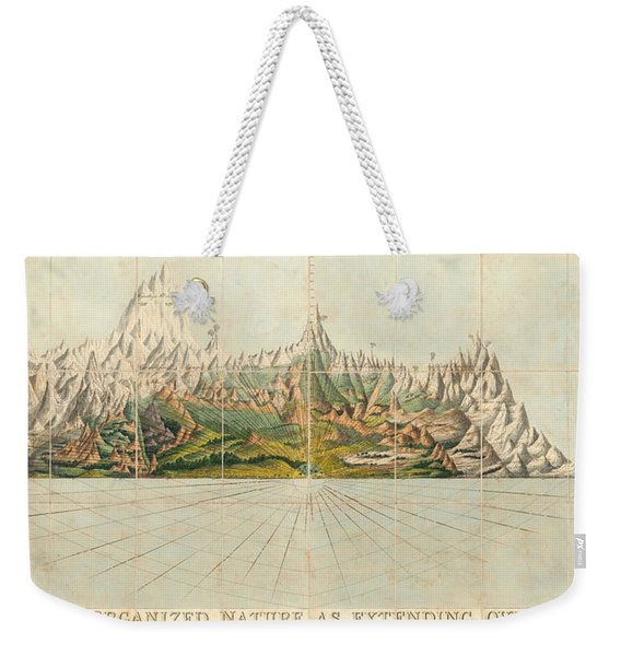 Picture Of Organized Nature As Extending Over The Earth - Geological Illustration - Old Atlas Weekender Tote Bag