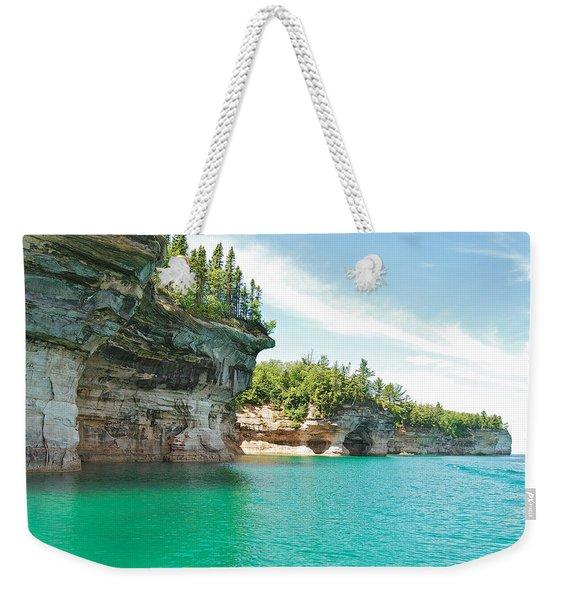Pictured Rocks Weekender Tote Bag