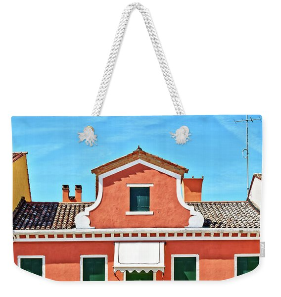 Picturesque House In Burano Weekender Tote Bag