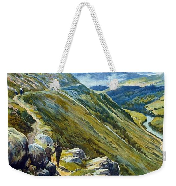 Picturesque Wales - Landscape Painting - Great Western Railway - Vintage Poster Weekender Tote Bag