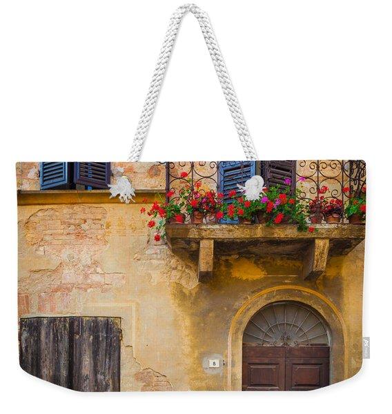 Pienza Balcony Weekender Tote Bag