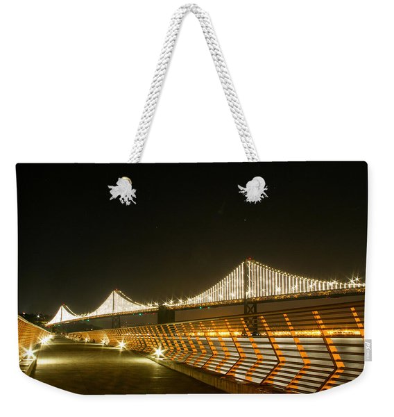 Pier 14 And Bay Bridge Lights Weekender Tote Bag