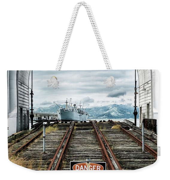 Weekender Tote Bag featuring the photograph Pier 43 Ferry Arch San Francisco California by Mary Lee Dereske