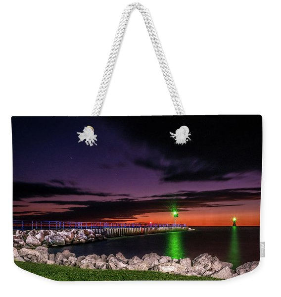 Pier And Lighthouse Weekender Tote Bag