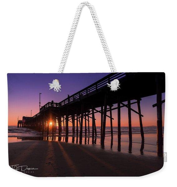 Pier In Purple Weekender Tote Bag