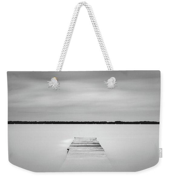 Pier Sinking Into The Water Weekender Tote Bag