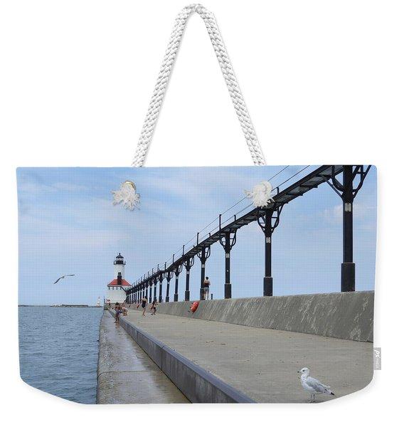 Pier To Peer Weekender Tote Bag