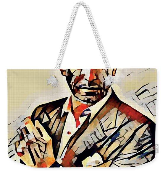 Pierce Brosnan Portrait Weekender Tote Bag