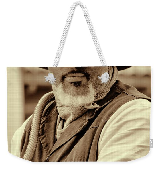 Piercing Eyes Of The Cowboy Weekender Tote Bag