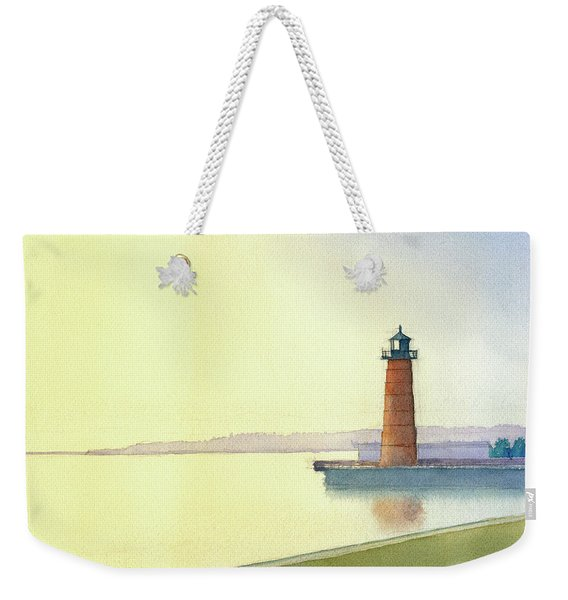 Pierhead Lighthouse, Milwaukee Weekender Tote Bag