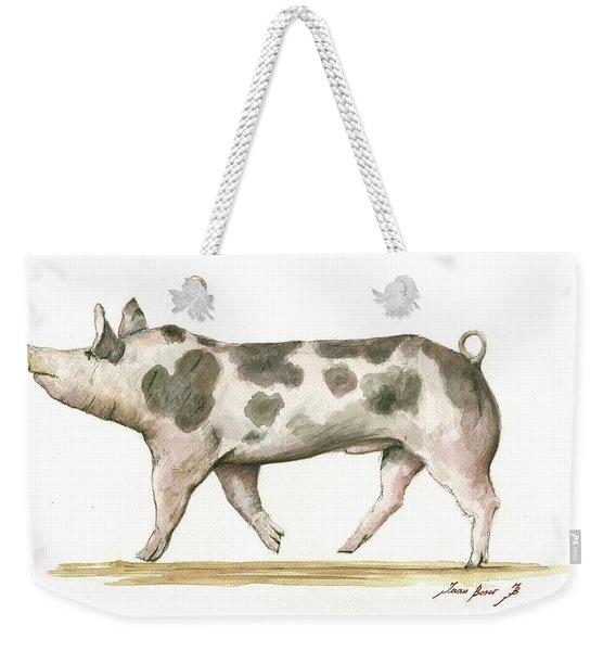 Pietrain Pig Weekender Tote Bag