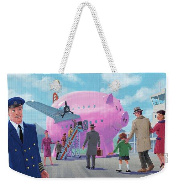 Pig Airline Airport Weekender Tote Bag