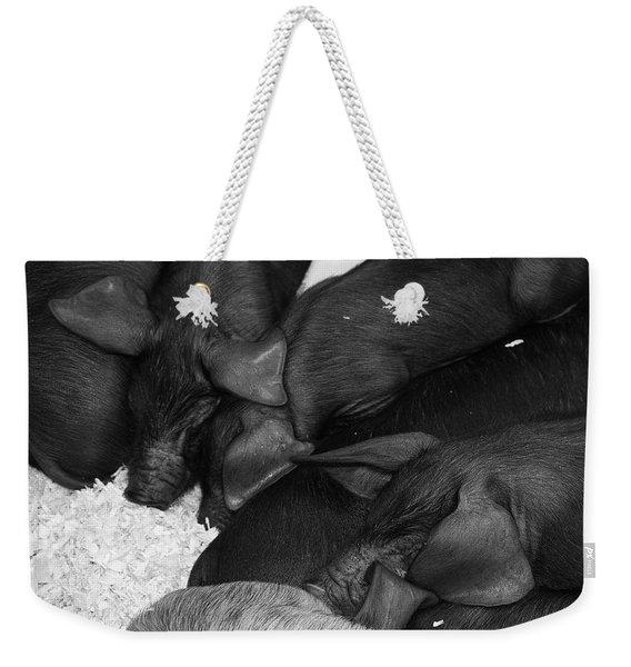Pig Pile Weekender Tote Bag