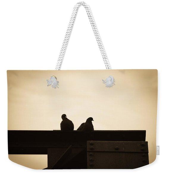 Pigeon And Steel Weekender Tote Bag