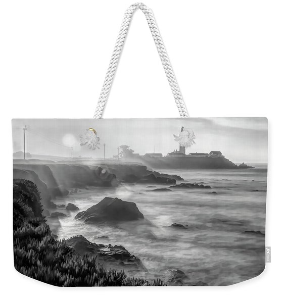 Pigeon Point Rocky Shore Weekender Tote Bag
