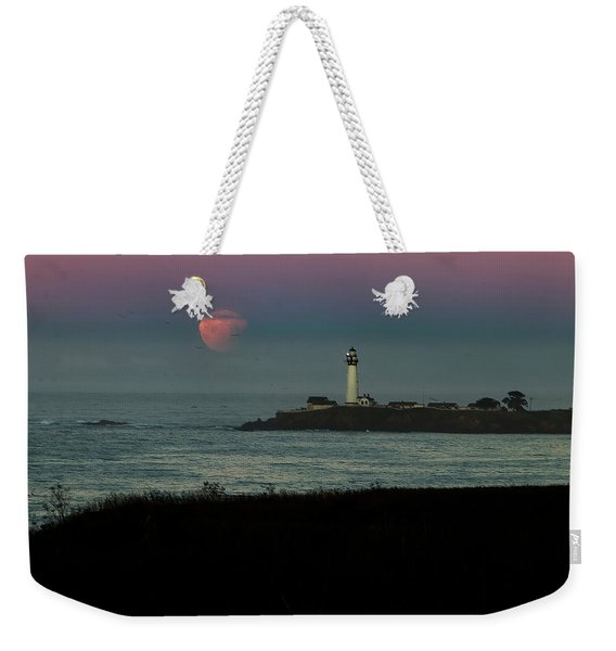 Pigeon Point Supermoonset Weekender Tote Bag