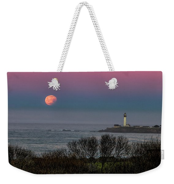 Pigeon Point Supermoon Weekender Tote Bag