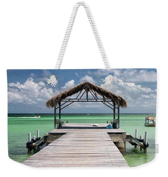 Pigeon Point, Tobago#pigeonpoint Weekender Tote Bag