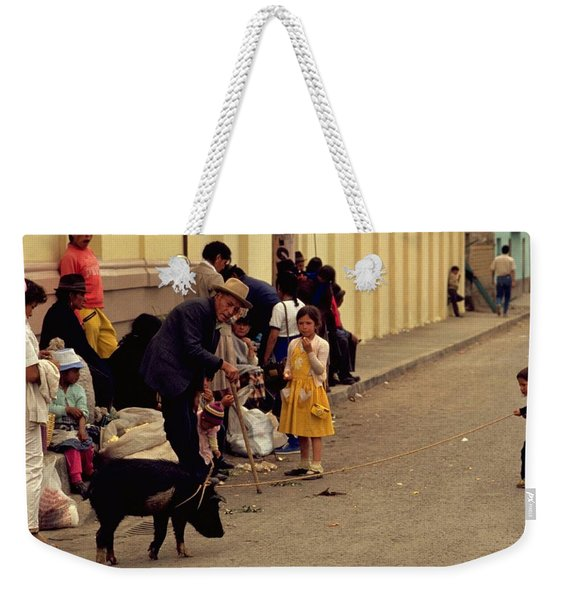Piggy Went To Market Weekender Tote Bag