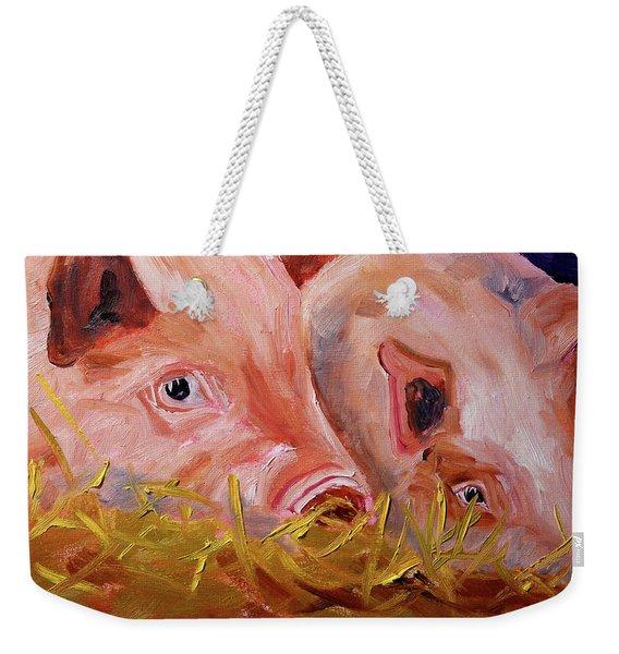 Piglet Pair Weekender Tote Bag