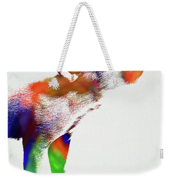 Piglet Wild Animals Of The World Watercolor Series On White Canvas 007 Weekender Tote Bag