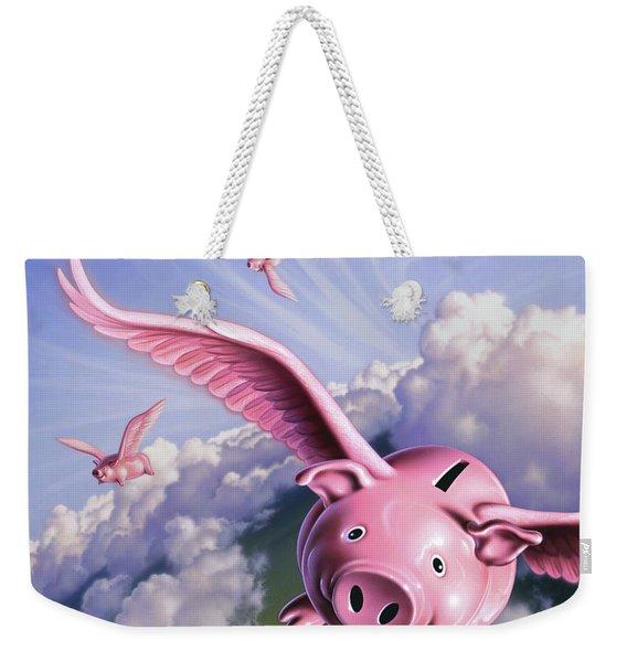 Pigs Away Weekender Tote Bag