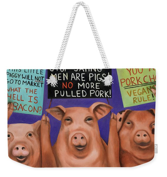 Pigs On Strike Weekender Tote Bag