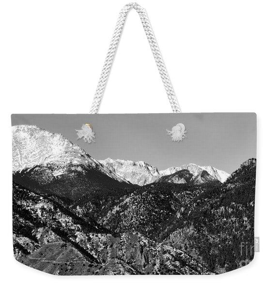 Pikes Peak And Incline 36 By 18 Weekender Tote Bag