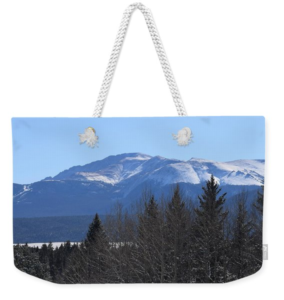 Weekender Tote Bag featuring the photograph Pikes Peak Cr 511 Divide Co by Margarethe Binkley