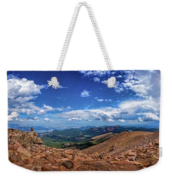 Pikes Peak Summit Vista #2 Weekender Tote Bag