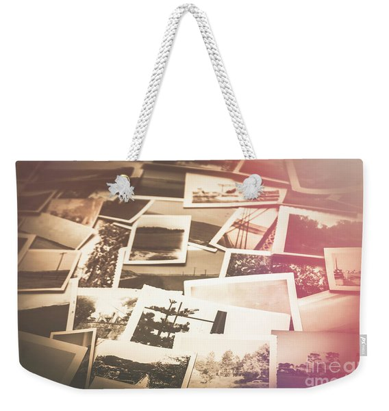 Pile Of Old Scattered Photos Weekender Tote Bag