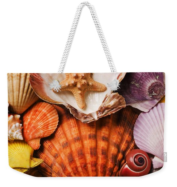 Pile Of Seashells Weekender Tote Bag