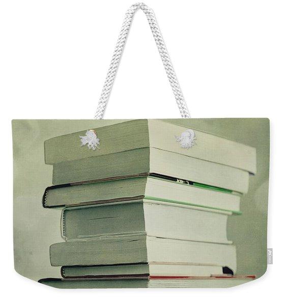 Piled Reading Matter Weekender Tote Bag