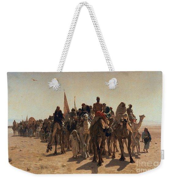 Pilgrims Going To Mecca Weekender Tote Bag