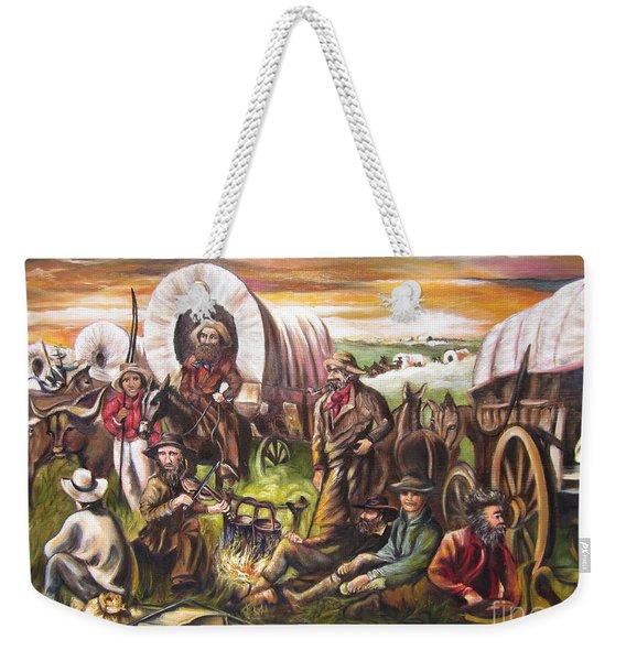 American    History  Pilgrims On The Plain Weekender Tote Bag
