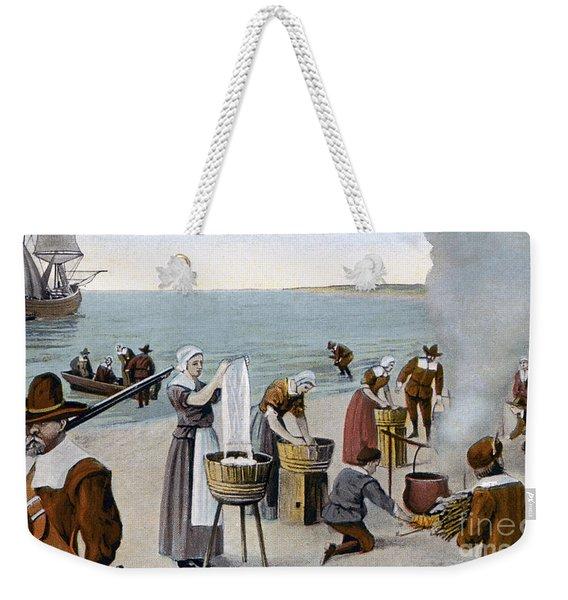 Pilgrims Washing Day, 1620 Weekender Tote Bag
