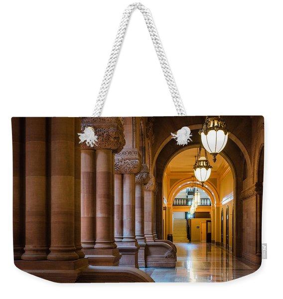 Pillar Hallway Weekender Tote Bag